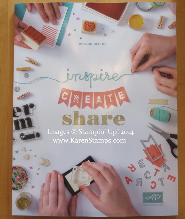 Stampin' Up New Catalog Cover