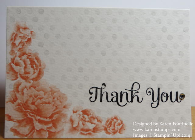 Watercolor Wonder Note Card Thank You