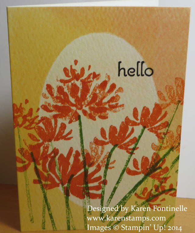 Watercolor Wonder Note Card Too Kind Flowers