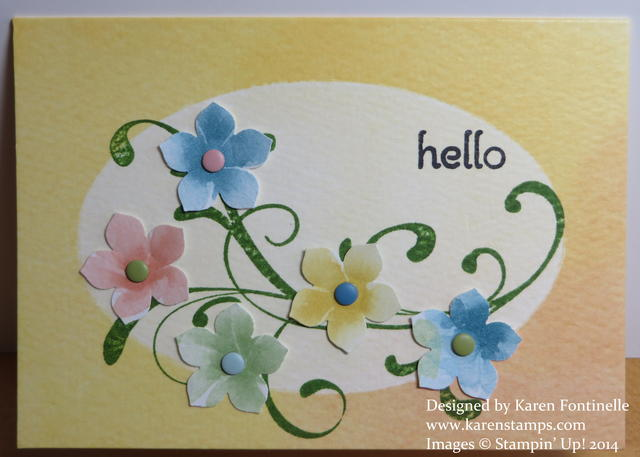 Watercolor Wonder Petite Petals Card