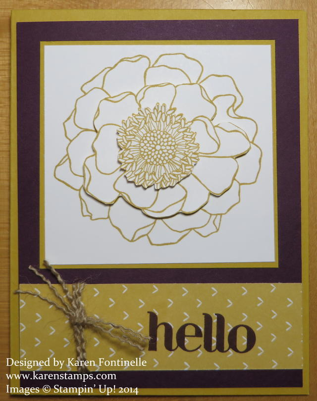 Blended Bloom In Colors Hello Card