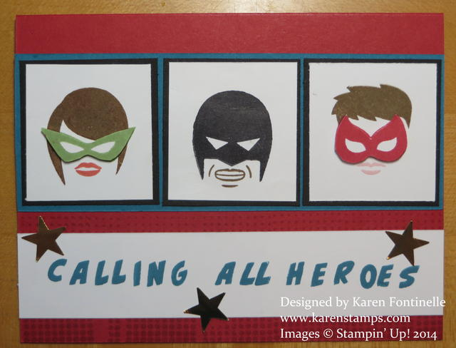 Calling All Heroes Three Hero Faces Card