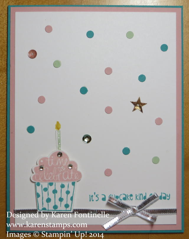 Cupcake Party Birthday Card