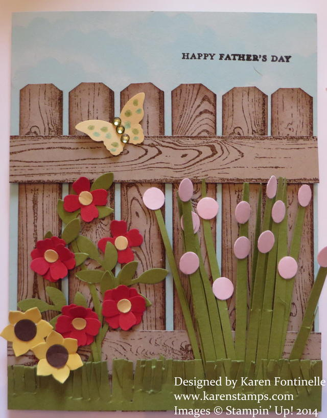 Father's Day Hardwood Fence Card
