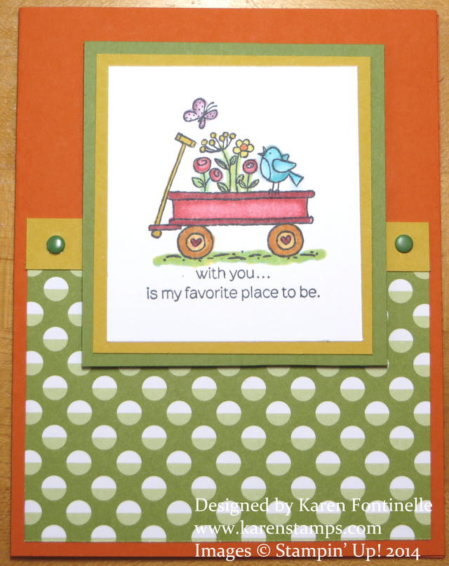 For the Birds Easy Card with Blendabilities Markers