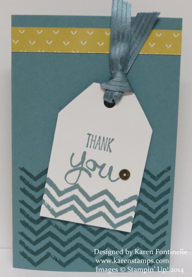 Lost Lagoon Work of Art Thank You Tag Card