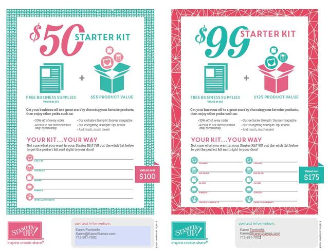 Join Stampin' Up! with a Choice of Starter Kits