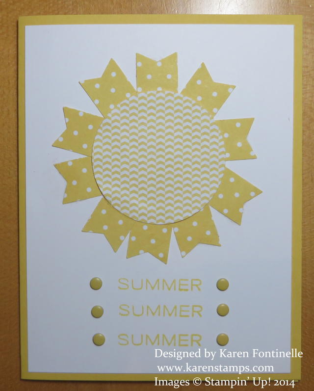 Summer Begins Summer Solstice Sun Card