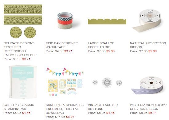 Stampin' Up! Weekly Deal June 17 2014