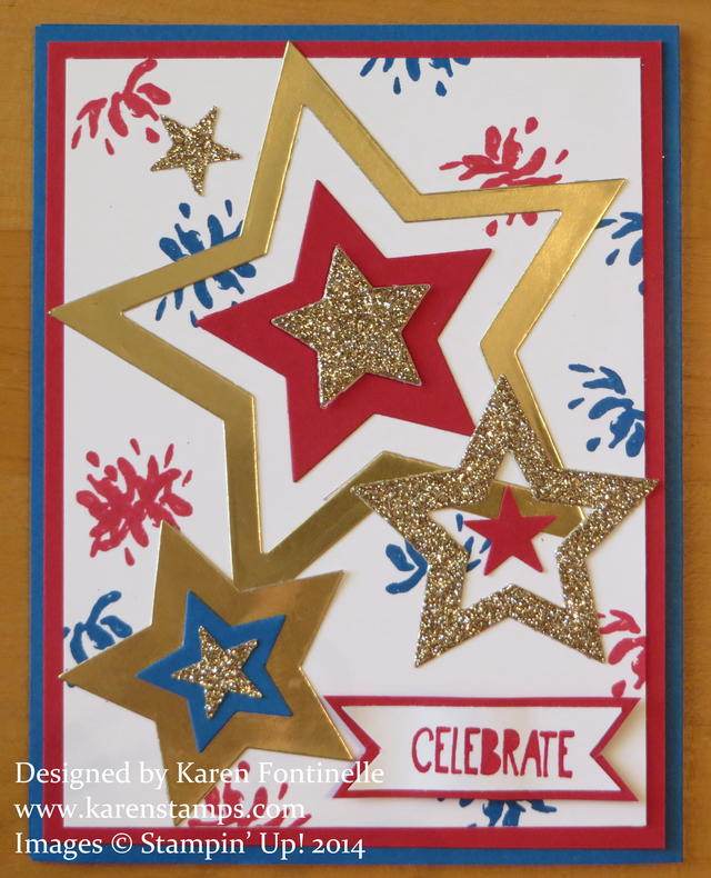 Stampin' Up! Star Framelits 4th of July Card