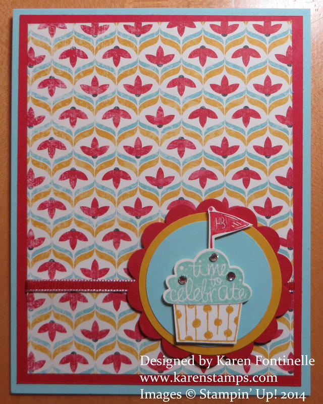 Cupcake Party Card with Flashback Paper