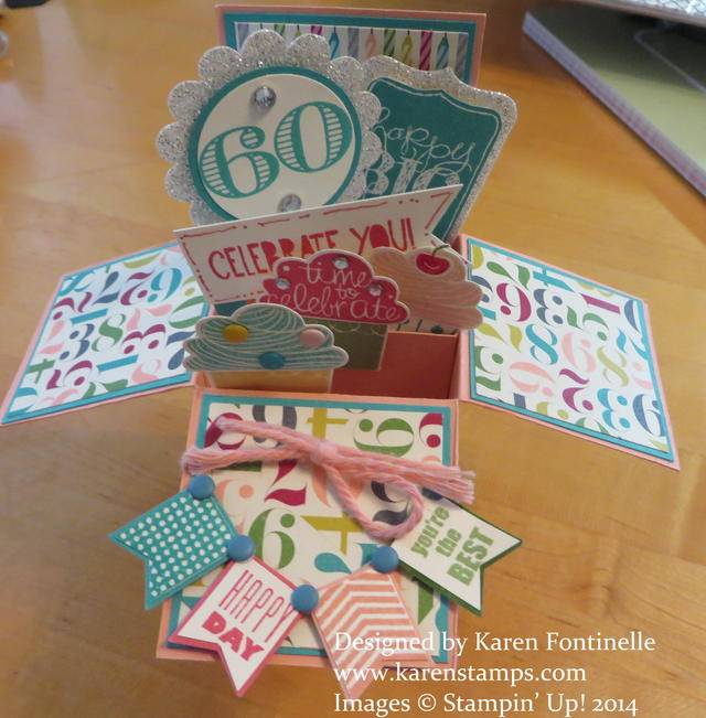 Pop Up Box Card 60th Birthday