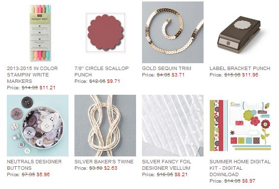 Stampin' Up! Weekly Deal July 1 2014