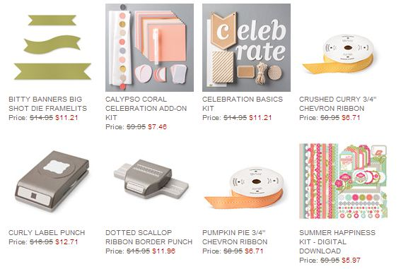 Stampin' Up! Weekly Deal July 22 2014