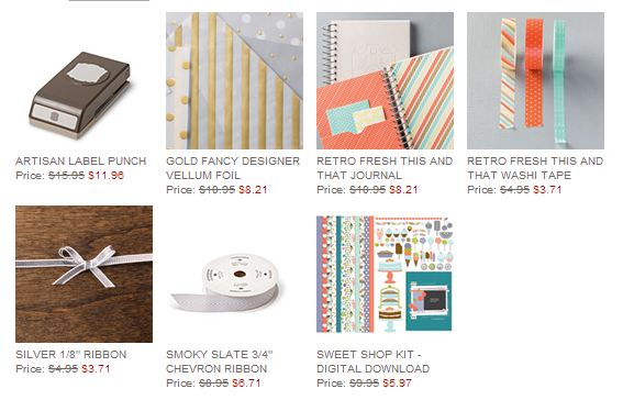 Stampin' Up! Weekly Deal July 8 2014