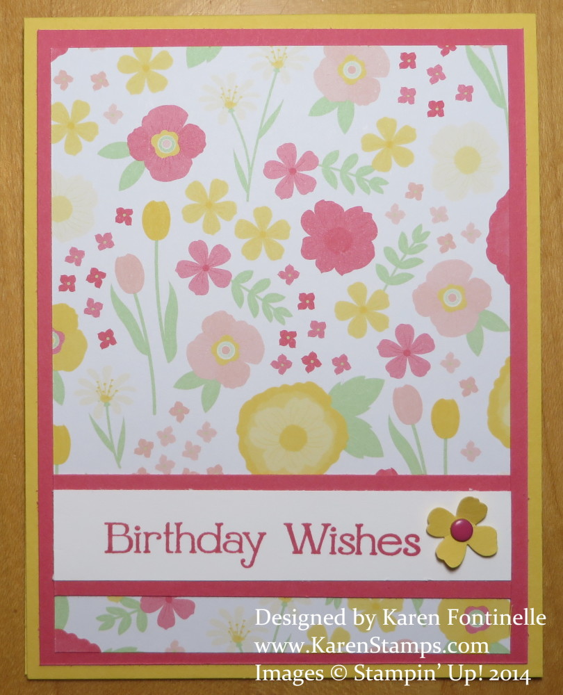 Easy birthday card to make with all abloom paper stack stamping all abloom birthday card bookmarktalkfo Gallery