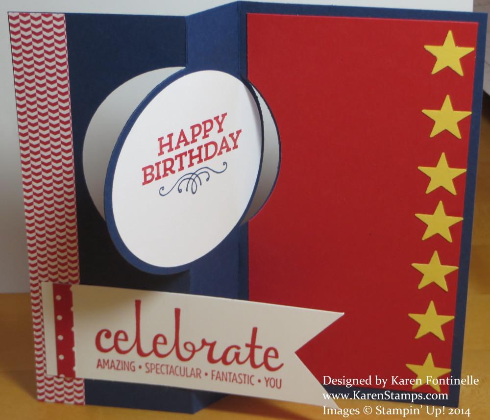 Baseball Circle Thinlits Birthday Card | Stamping With Karen