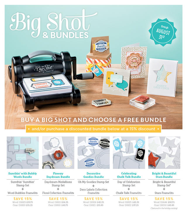 Big Shot & Bundles Stampin' Up! Promo