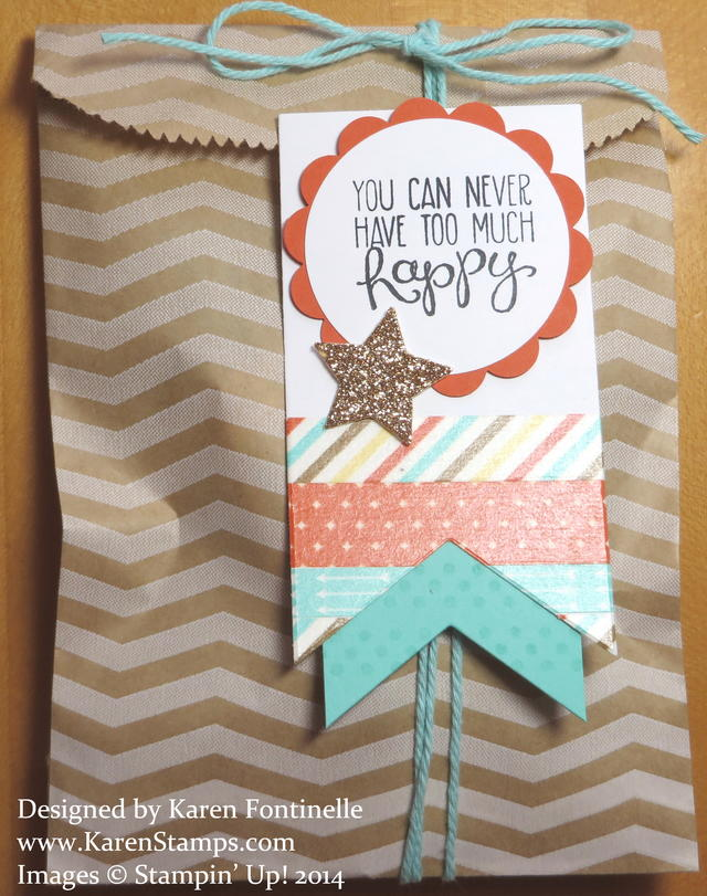 Chevron Tag a Bag Gift Bag