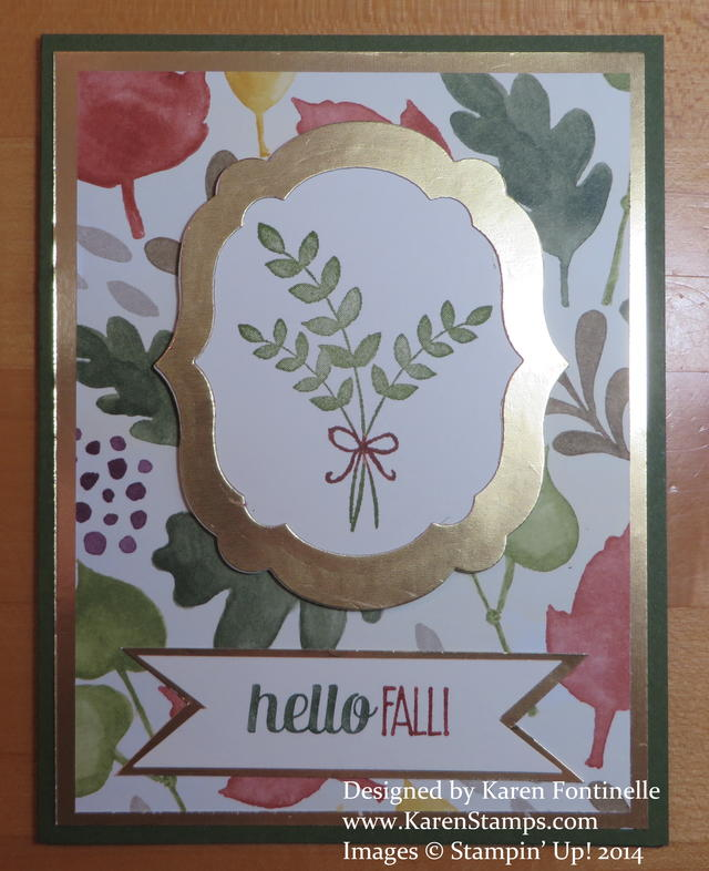 Color Me Autumn Hello Fall Card