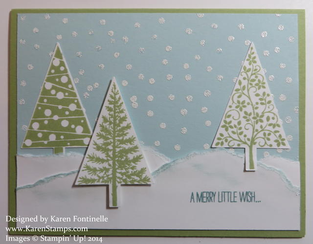 Festival of Trees Snow Card
