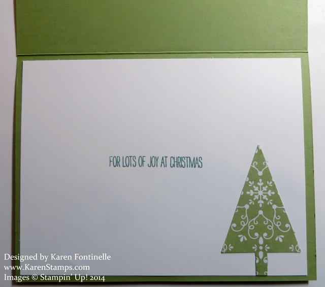 Festival of Trees Snow Card Inside