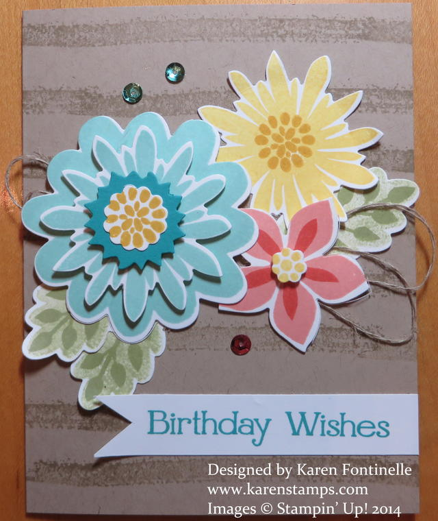 Flower Patch Flower Fair Birthday Card