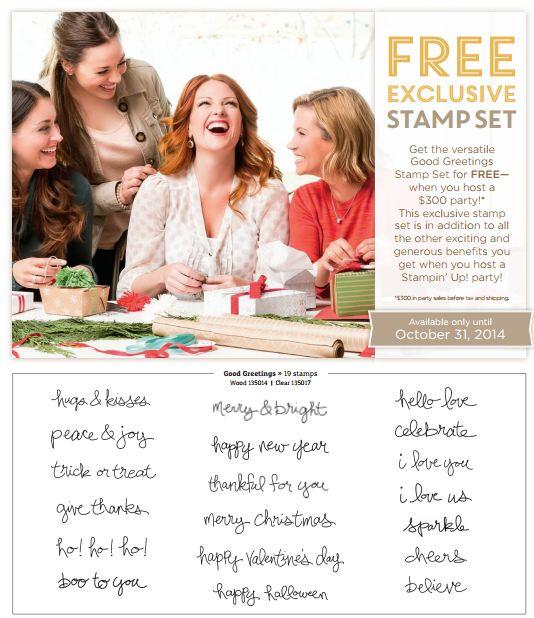 Good Greetings Free Stamp Set