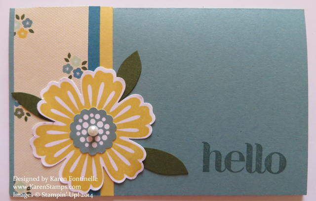 Mixed Bunch Hello Card