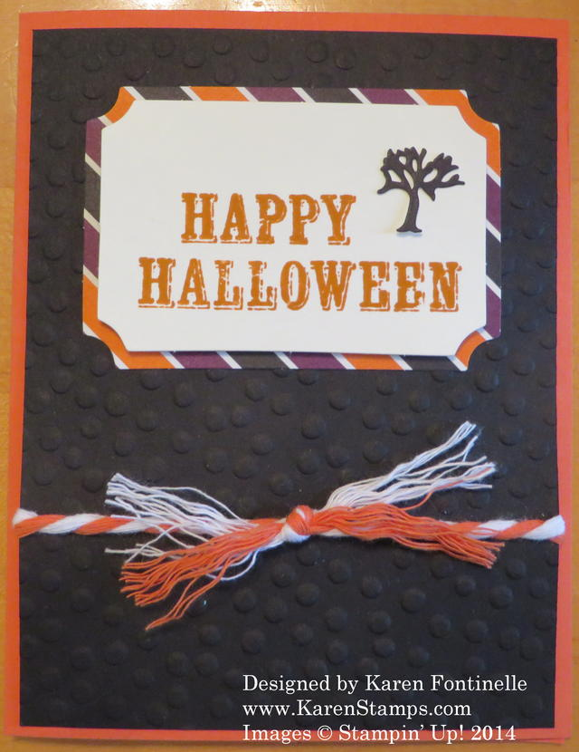 Alternate September Paper Pumpkin Kit Halloween Card
