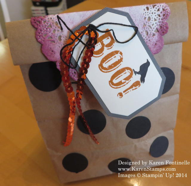 Alternate September Paper Pumpkin Kit Halloween Lunch Sack Treat Bag