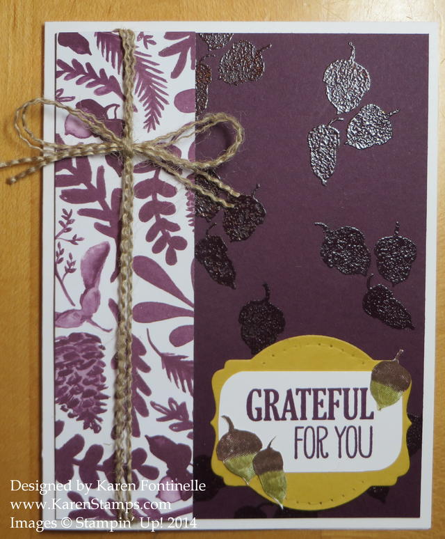 Blackberry Bliss and Color Me Autumn Fall Card