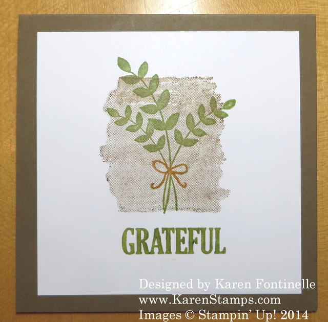 Easy to Make Fall Grateful Card