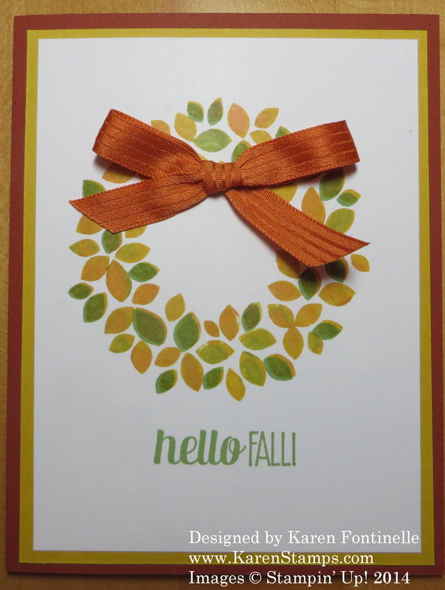 Fall Wondrous Wreath Card