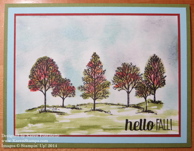 Lovely As a Tree Easy Fall Card