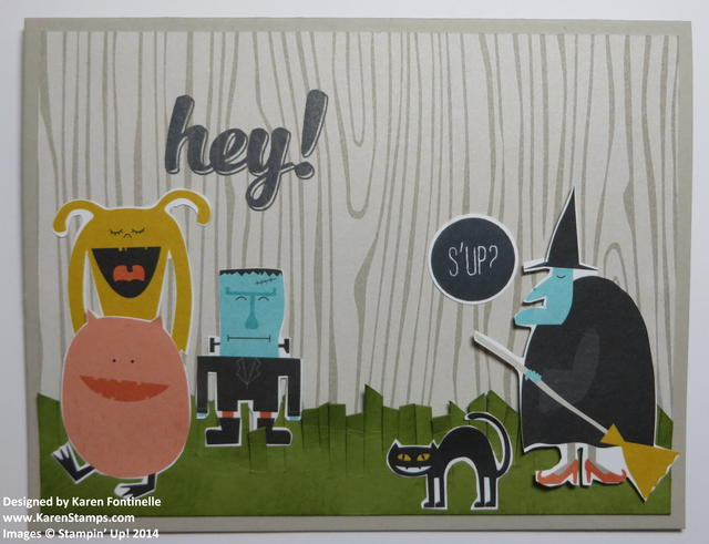 Motley Monsters Halloween Card