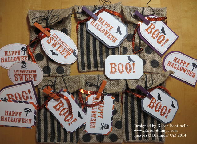 September Paper Pumpkin Kit Bags and Tags