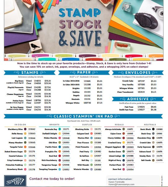 Stamp Stock & Save Flyer