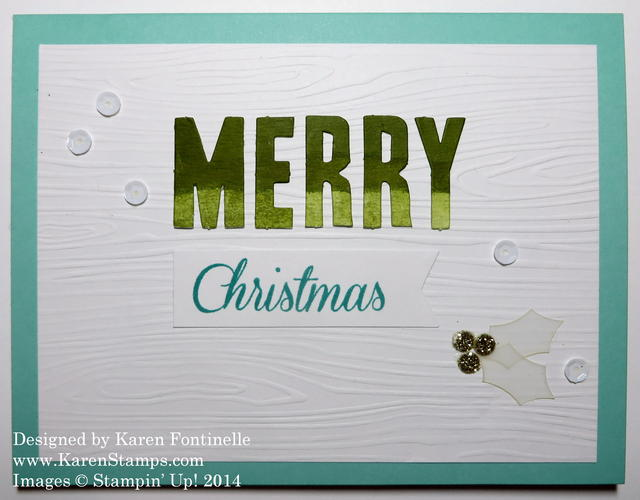 Watercolor Winter Kit Merry Christmas Card