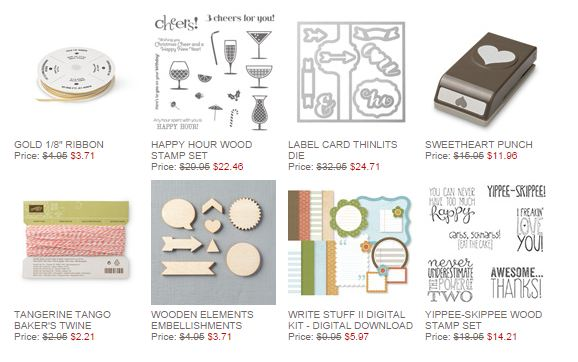 Stampin' Up! Weekly Deal Sept 16 2014