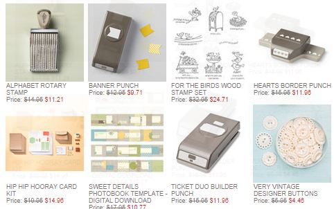 Stampin' Up! Weekly Deals Sept 30 2014