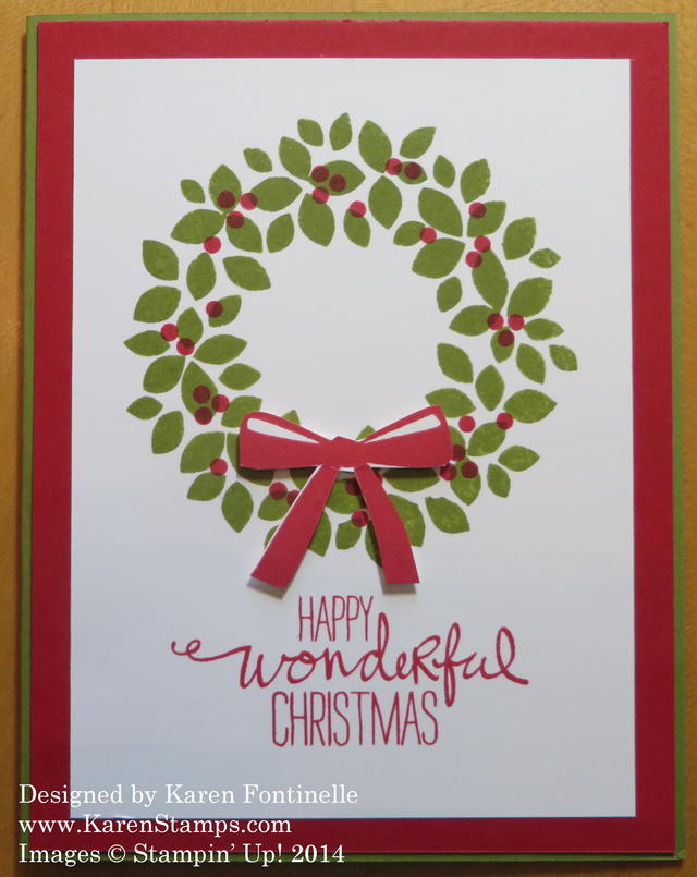 Wondrous Wreath Easy Christmas Card