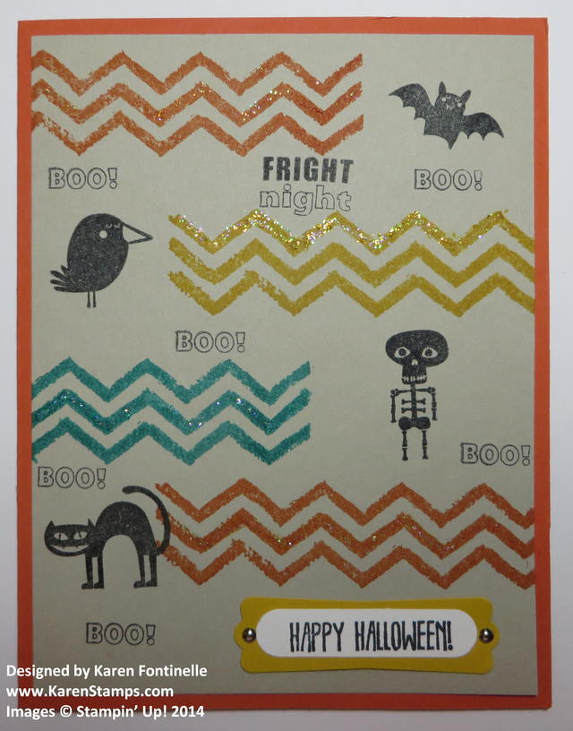 Work of Art and Freaky Friends Halloween Card