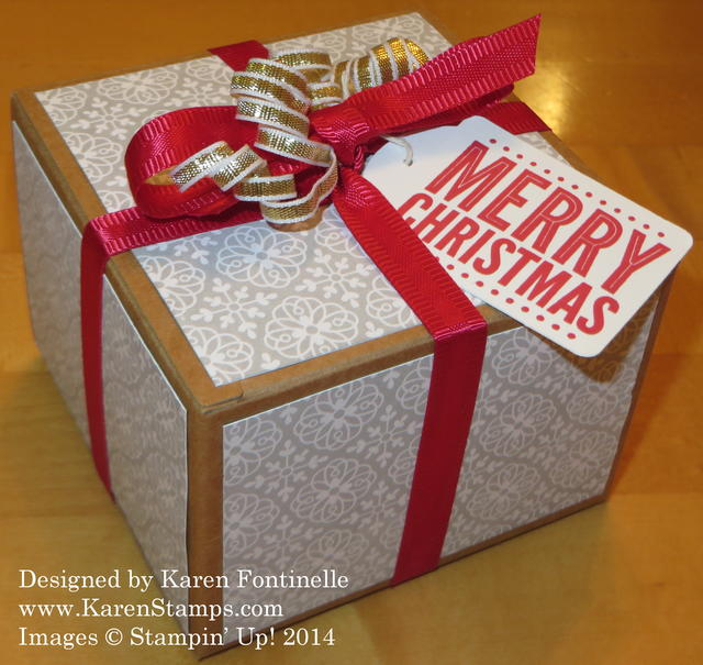 All Is Calm Kraft Gift Box For Christmas