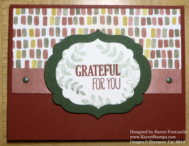 Color Me Autumn Grateful Card