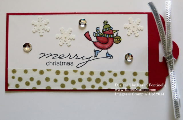 For The Birds Easy Christmas Tag