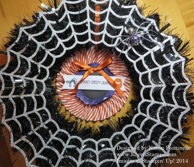 Stampin' Up! Frightful Wreath
