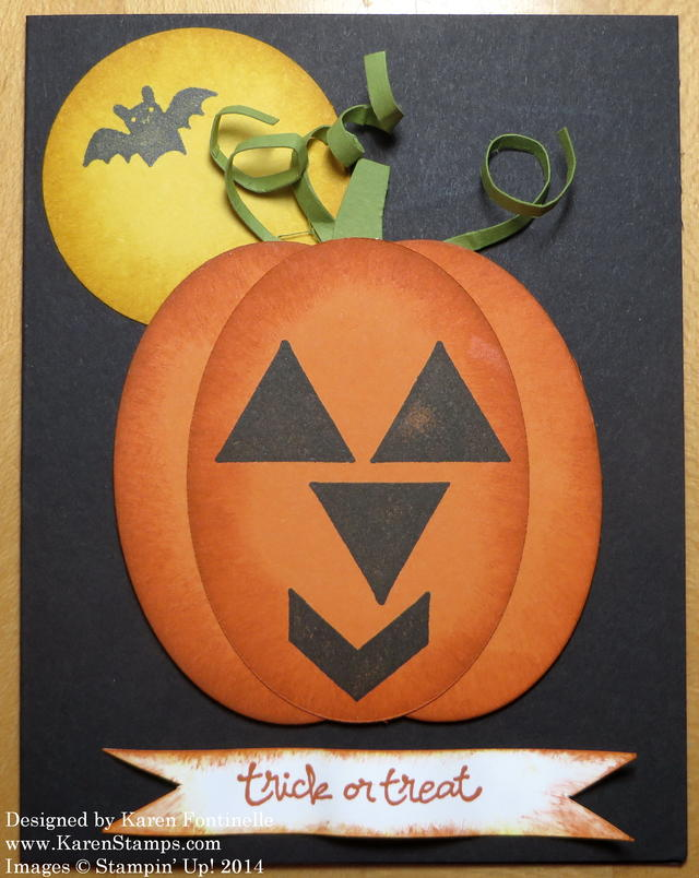 Geometrical Halloween Pumpkin Card