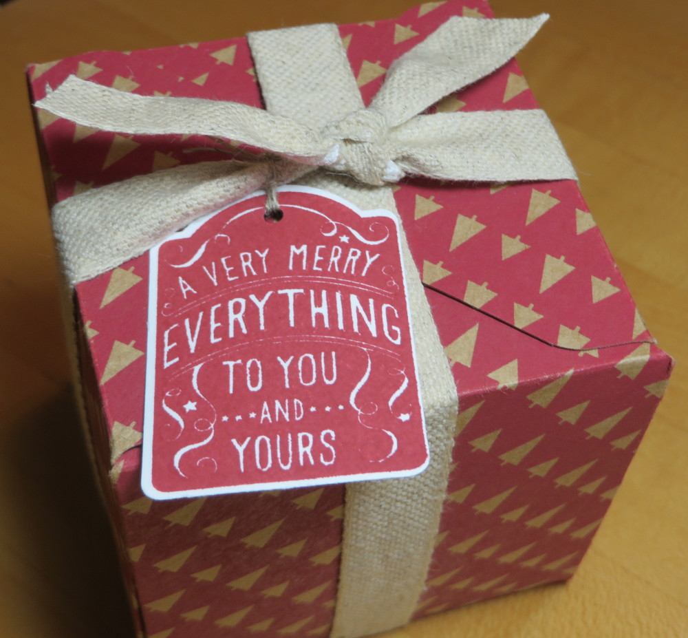 gift box punch board box chevron ribbon