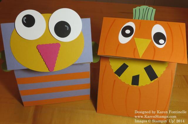 Halloween Lunch Sack Monster and Pumpkin